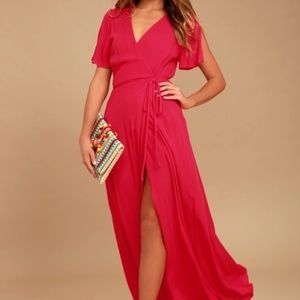 Lulus - Lovely Red Dress (Size L) - NWT